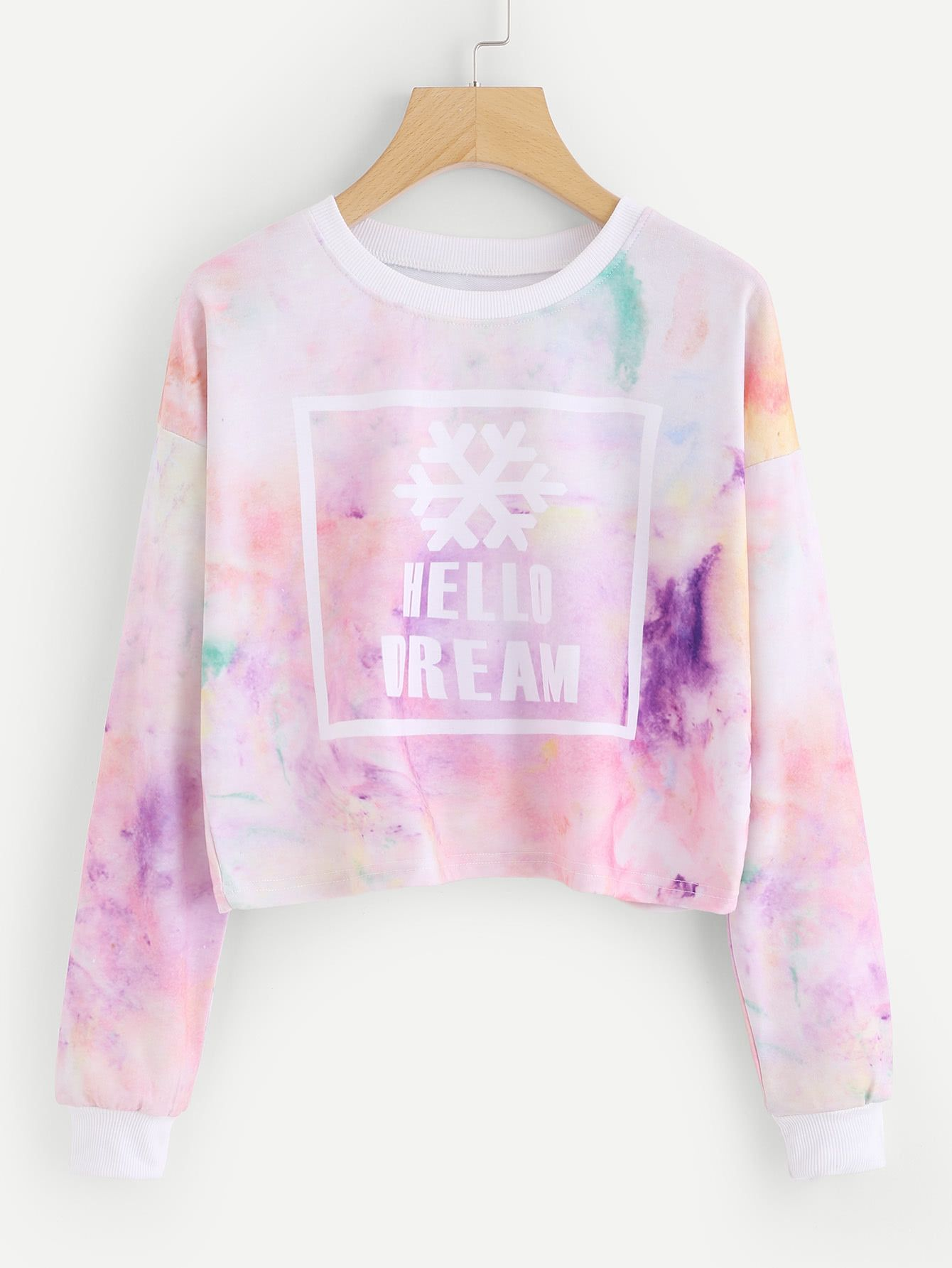 Water Color Letter Print Tee | Clothing & Beauty | Pinterest | Romwe ...