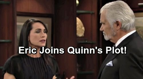 The Bold and the Beautiful Spoilers: Eric Joins Quinn's Reunion Plot – Steffy Drawn to Supportive Wyatt, Liam Outraged
