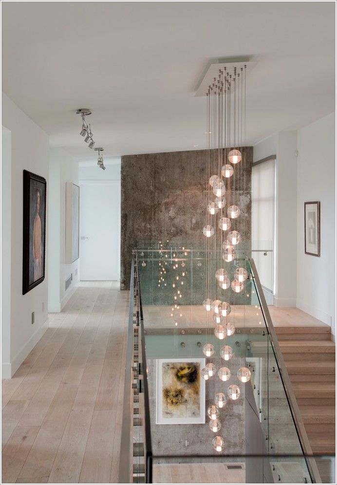 Modern Foyer Wall Designs : Hall contemporary vancouver accent lighting bocci light