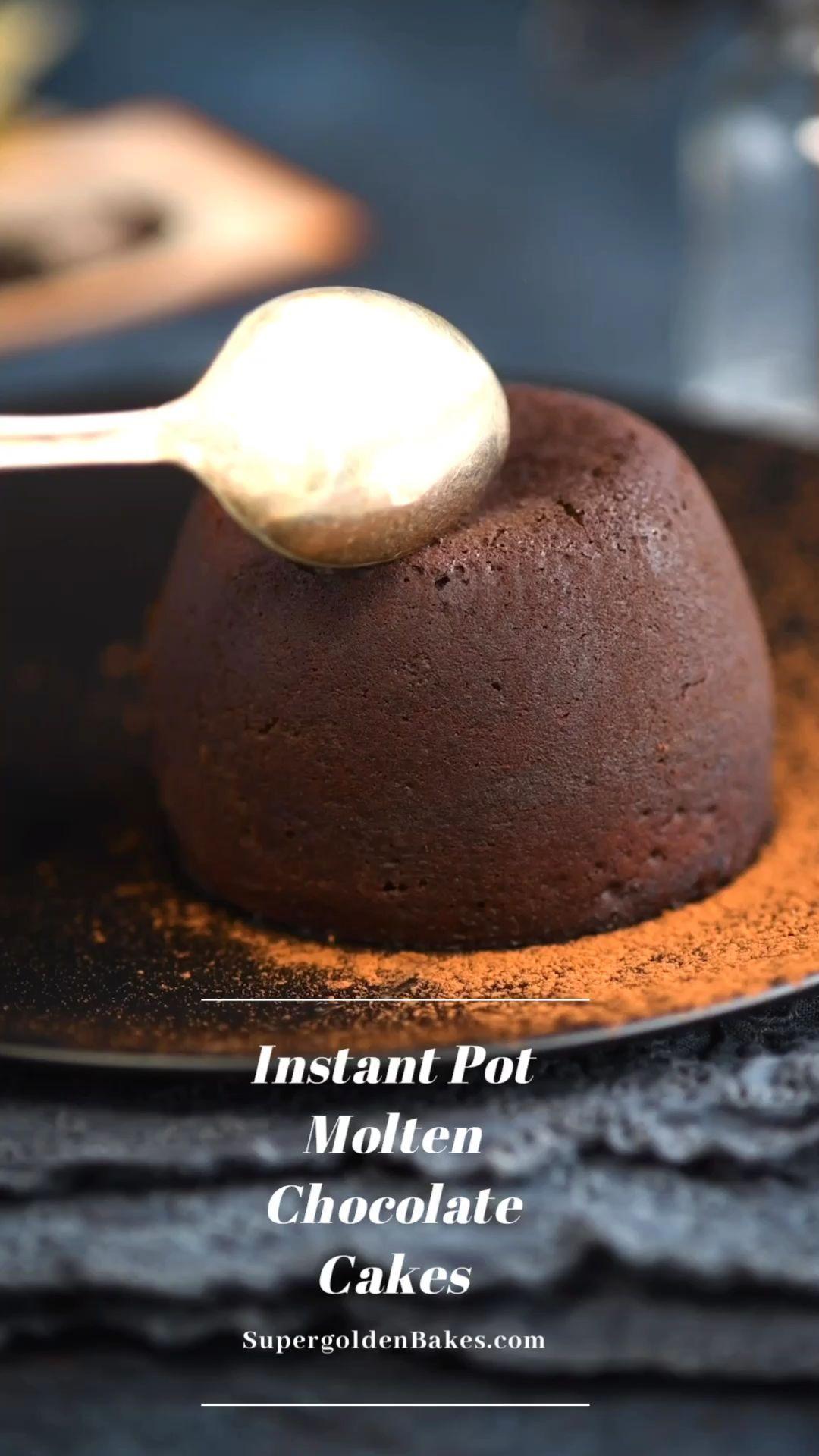 Instant Pot molten chocolate cakes - Supergolden B