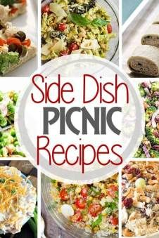 Tons of delicious options for side dish picnic recipes! #tacosidedishes