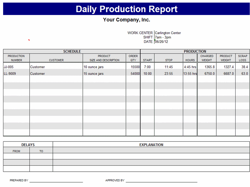 A Daily Production Report Summarizes All The Activities Performed