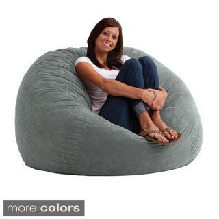 FufSack 4 Foot Large Memory Foam/ Microfiber Bean Bag Chair