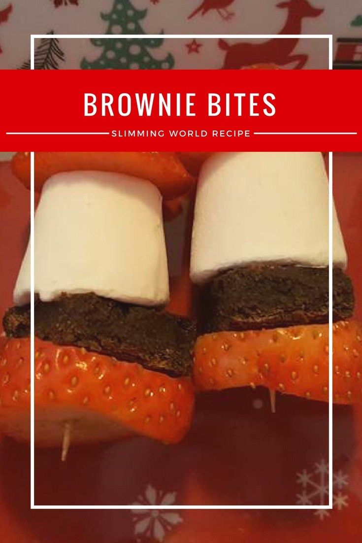Brownie Bites for my Slimming World Christmas Buffet