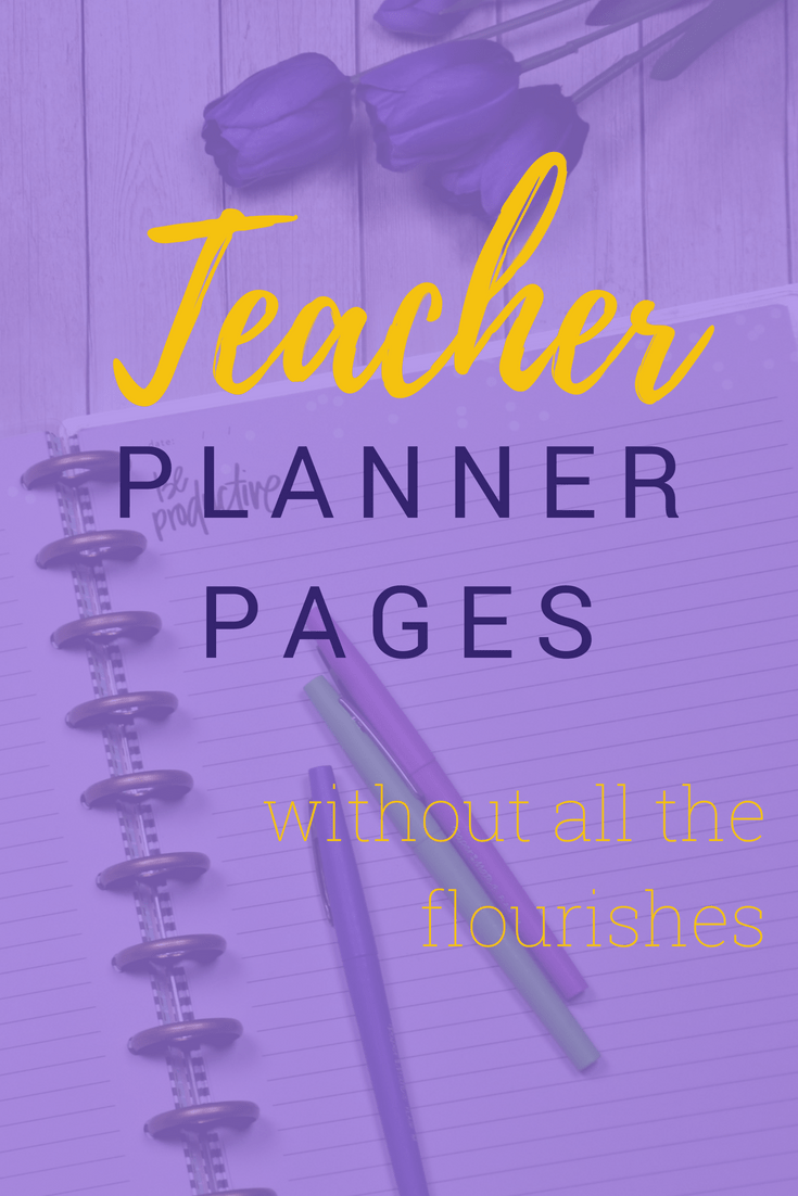 Teacher Planner Pages #teacherplannerfree Free Printable Minimalist Teacher Planner Pages for your Discbound Planners #teacherplannerfree