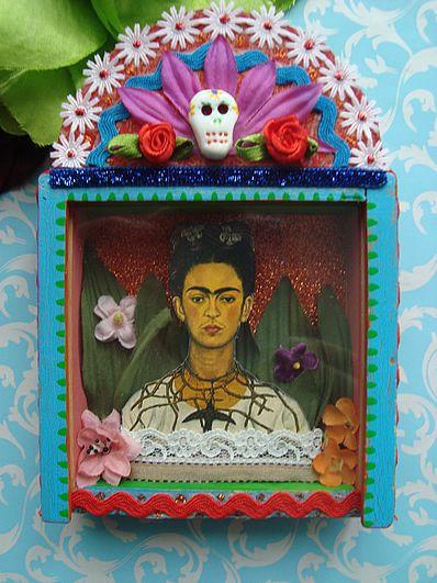 frida kahlo shrine by filzgood frida kahlo kunst deko und kreativ. Black Bedroom Furniture Sets. Home Design Ideas