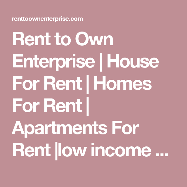 Low Income Apartments For Rent Fresno Ca: Rent To Own Enterprise