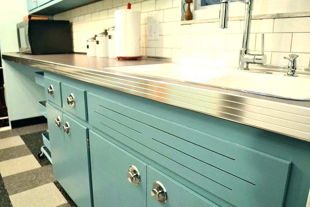 Cool Vintage Retro Metal Kitchen Cabinets Old Painting ...