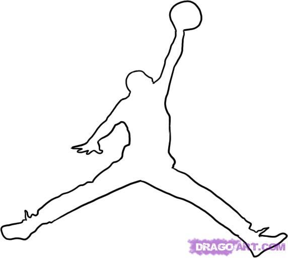 how to draw michael jordan step 5 | printable templets for stencils ...