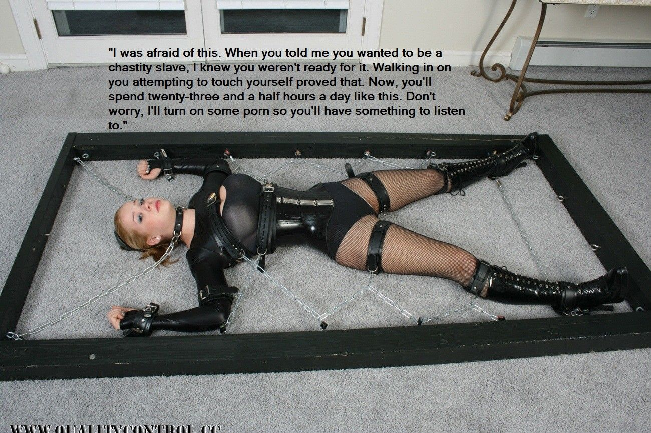 Chastity captions bondage