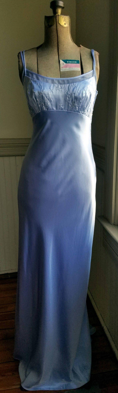 90 S Prom Dress Satin Small Train Periwinkle Zum Zum By Etsy Prom Dresses 90s Prom Dresses Prom Dresses Vintage [ 3000 x 903 Pixel ]