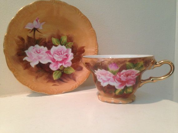 Vintage Hand Painted Kelvin Fine China Pink by TheDaintyBullet, $15.00