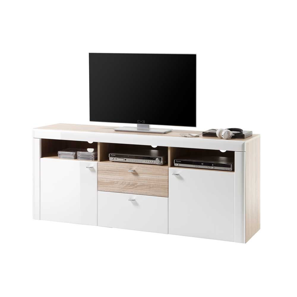 fernseher kommode tv wanddesign modern stein mild on. Black Bedroom Furniture Sets. Home Design Ideas