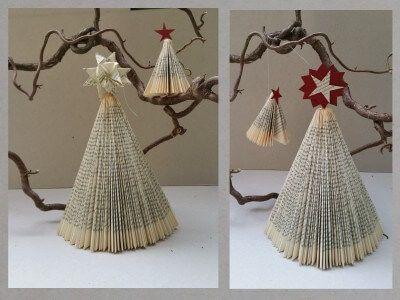 diy weihnachtsbaum aus buch falten papier b cher. Black Bedroom Furniture Sets. Home Design Ideas