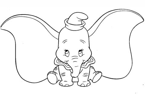 Dibujas Para Pintar De Dumbo Buscar Con Google Dibujo De Dumbo Paginas Para Colorear De Animales Produccion Artistica
