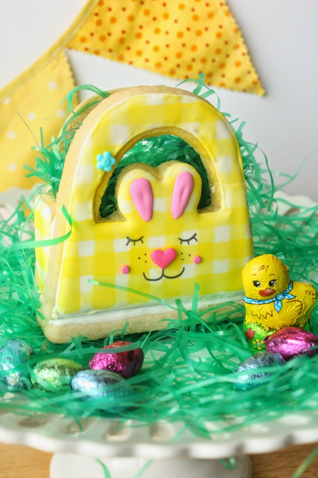 3D Bunny Basket Cookie for Easter by Munchkin Munchies.