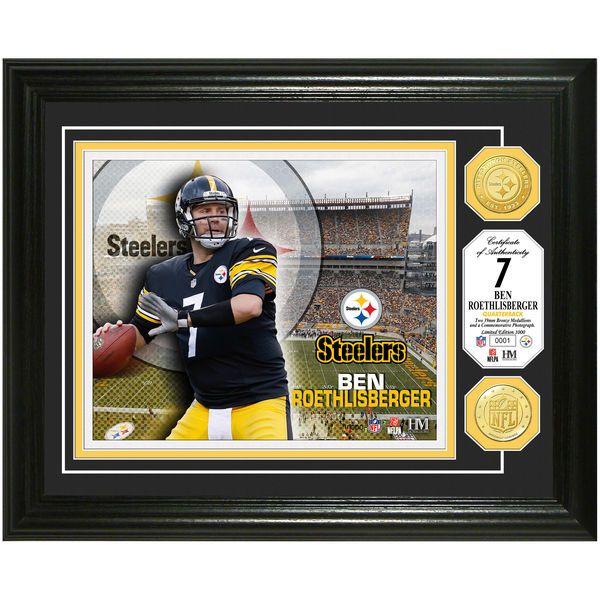 "Ben Roethlisberger Pittsburgh Steelers Highland Mint 13"" x 16"" Bronze Coin Player Photomint - $99.99"