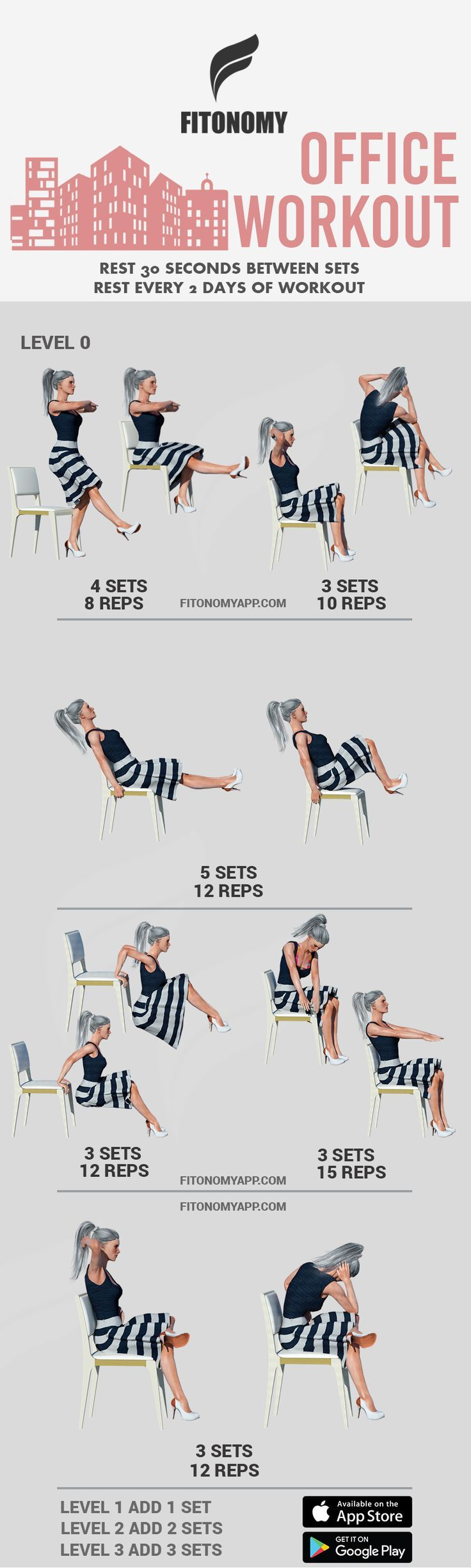 Office workout download fitonomy app for more routines
