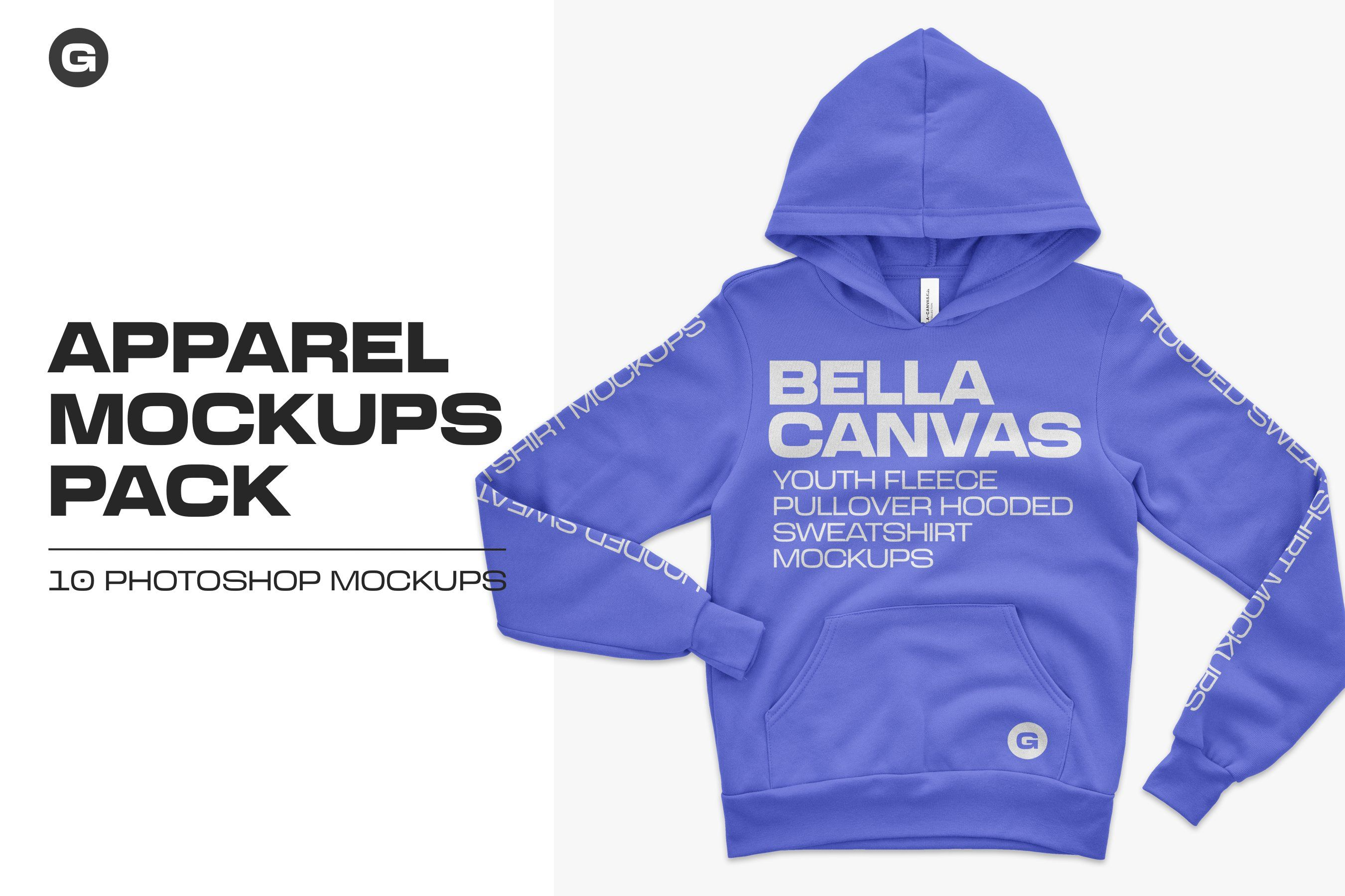 Download Bella Canvas Youth Pullover Mockups By Graphichero On Creativemarket In 2020 Pullover Bella Canvas Canvas