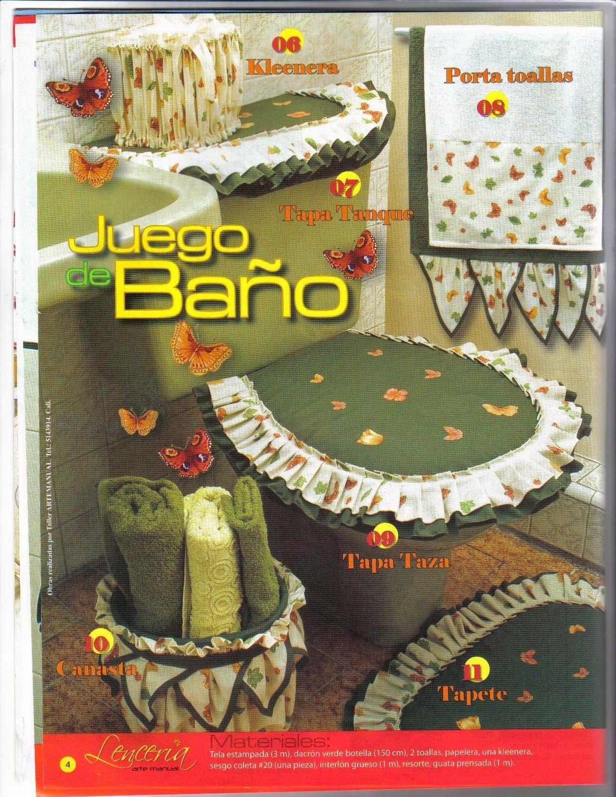Revista Lencería para el hogar gratis  juegos de baño ...