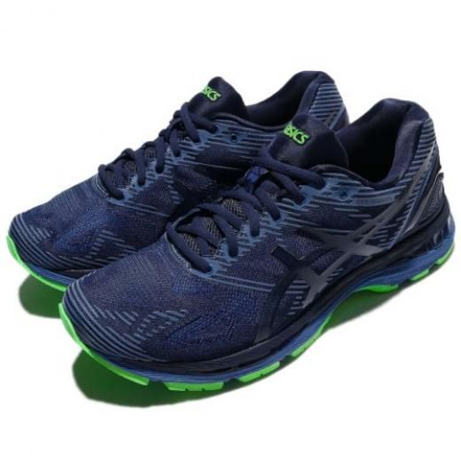 Asics Gel-nimbus 19 Lite-show Xeon Indigo Blue Green Men Running ...