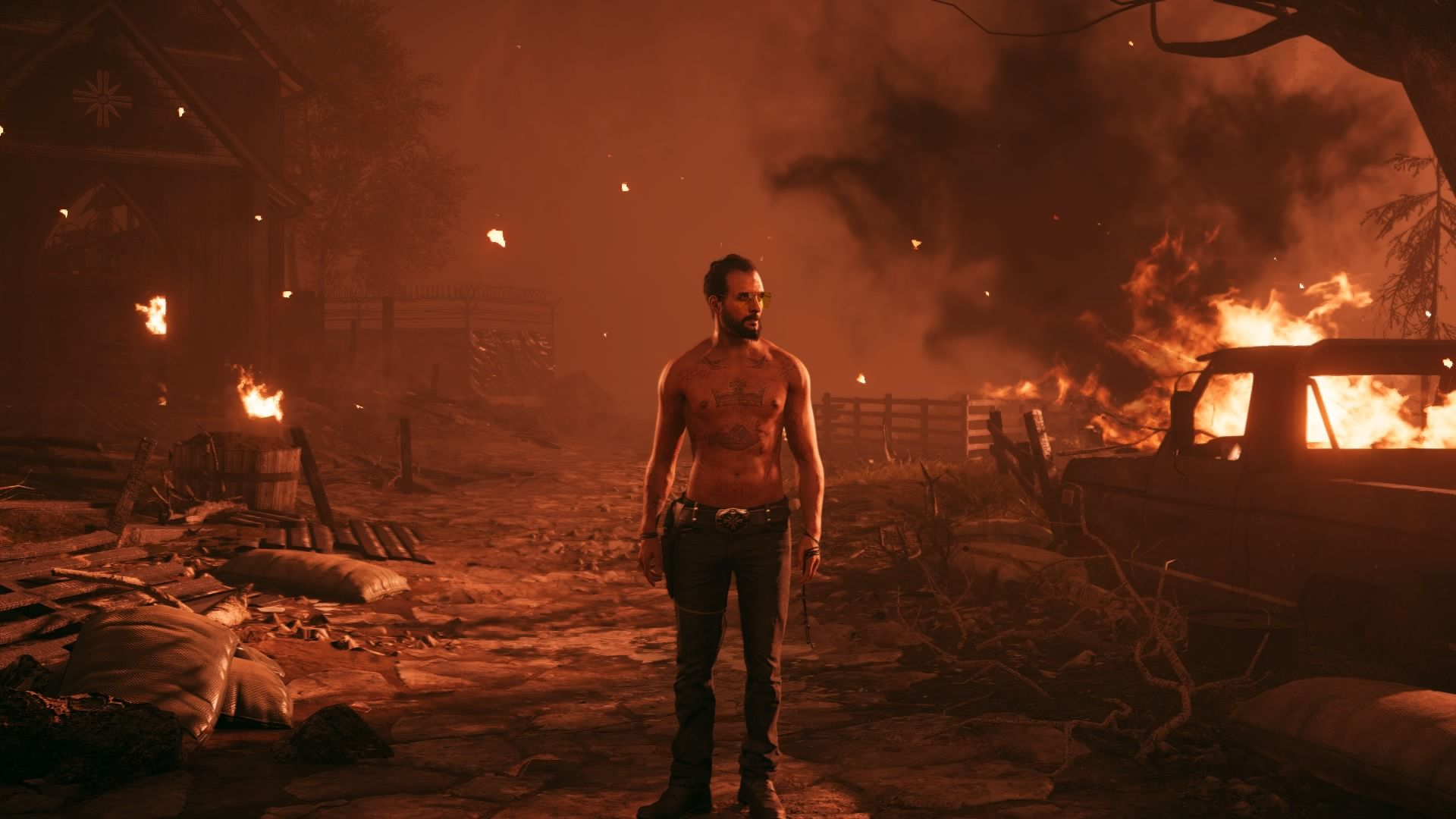 Far Cry 5 The Father Flames Destroy Screenshot Ps4 Wallpaper Far Cry 5 Crying Father