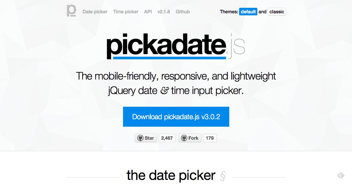 pickadate js | Web Dev | iOS, Coding, Travel
