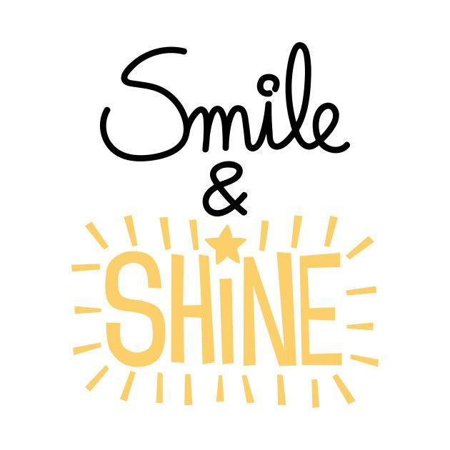 Check out this awesome 'Smile+and+shine' design on