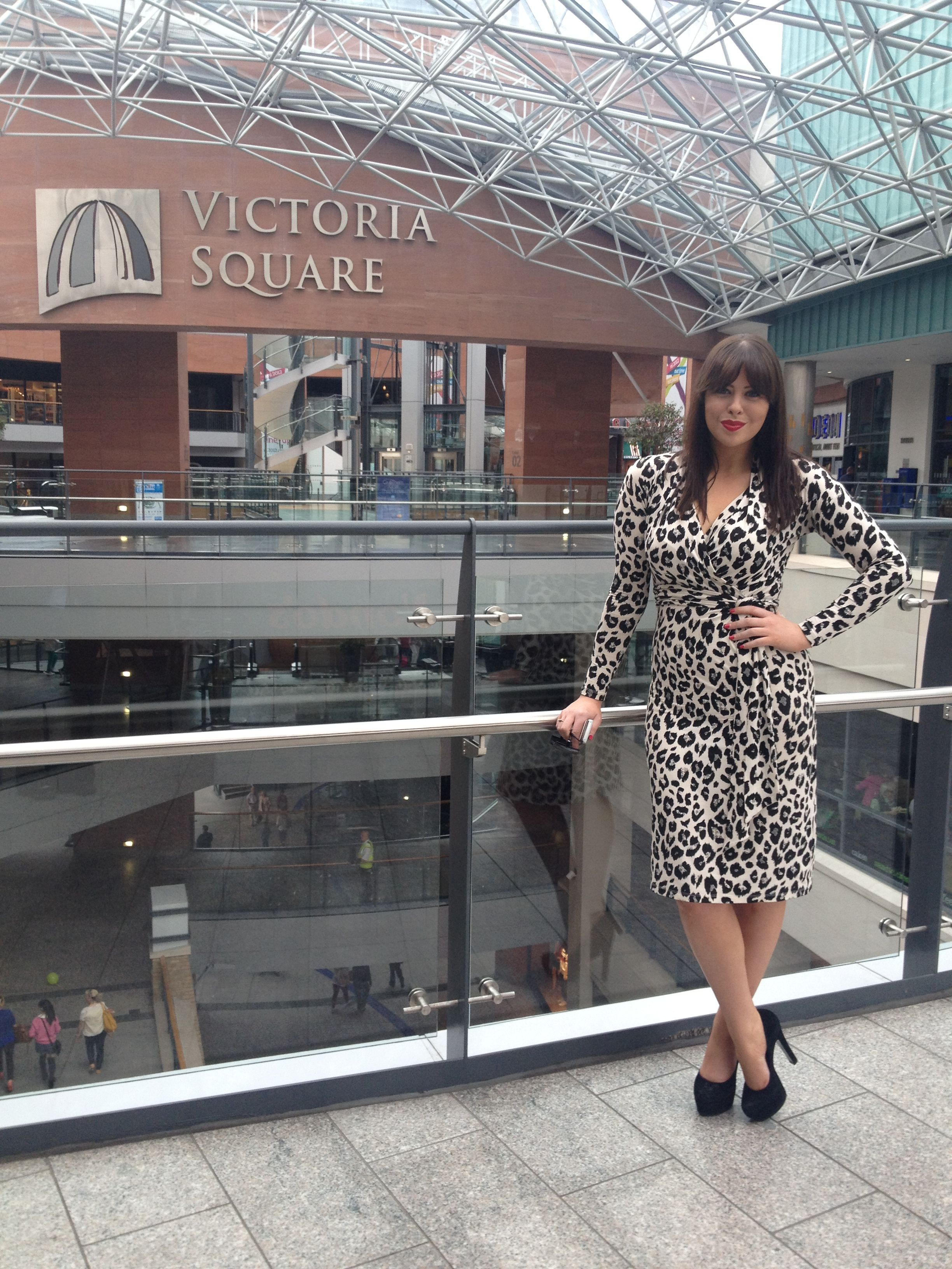 One of my fashion icons wearing a leopard print wrap dress from LK Bennett and double platforms from Kurt Geiger.