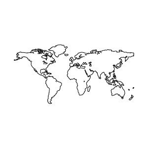 Skizze Weltkarte Vorlage Kostenlosen Vektoren