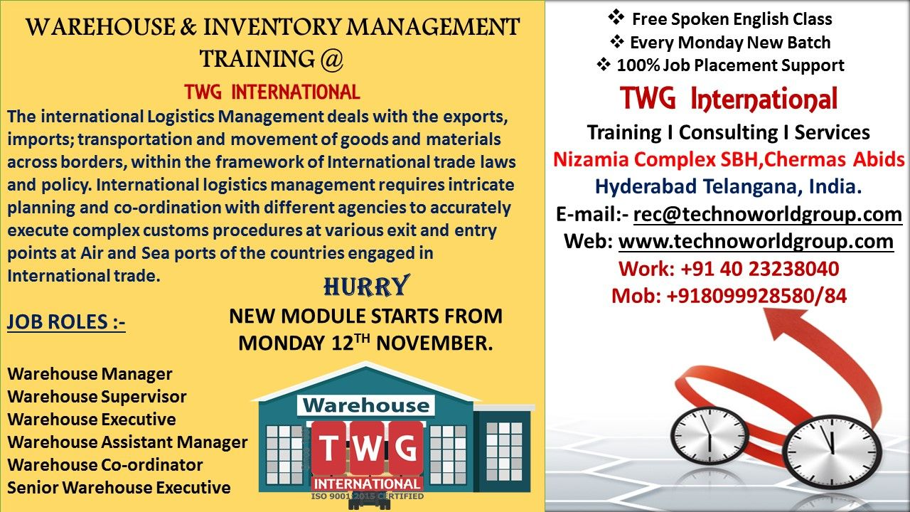 WAREHOUSE & INVENTORY MANAGEMENT TRAINING AT