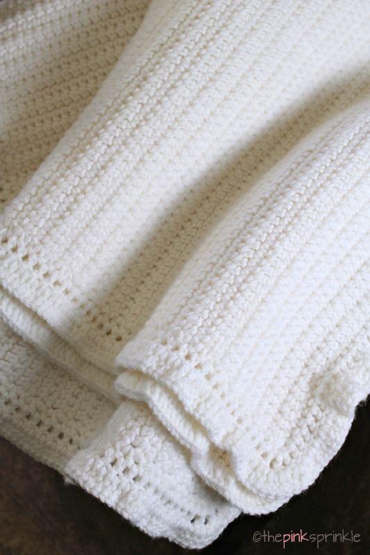 The Easiest Afghan Ever By Kristine - Free Crochet Pattern - (thepinksprinkle)