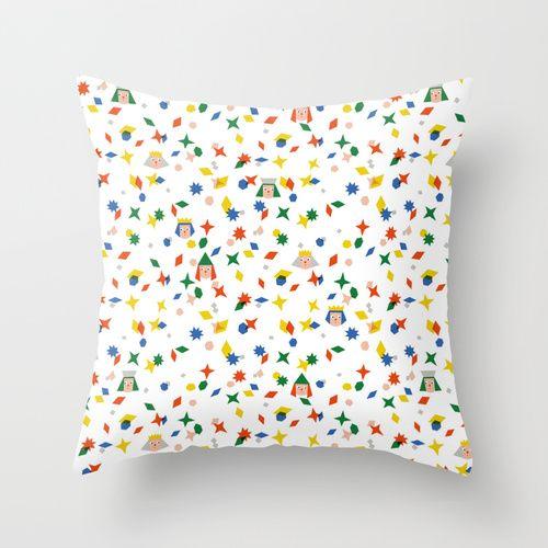 'Confetti king' Throw cushion available at www.elisamac.com
