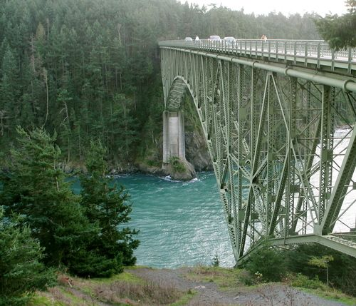 Deception Pass Whidby Island Washington, connecting the mainland to the island.