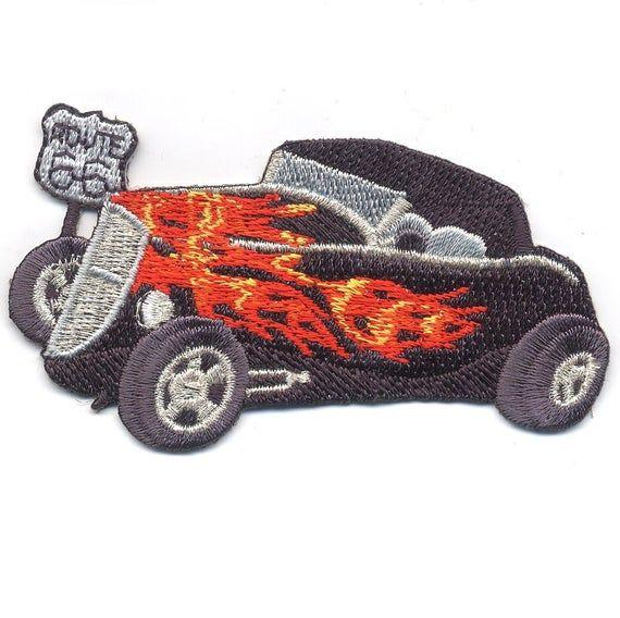 Hot Rod Applique Patch  Ford Hi-Boy Classic Car Route 66   Etsy