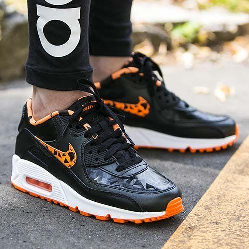 Nike Air Max 90 Fb (gs) Orange Noir / Total
