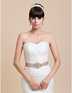 Casamento de cetim das mulheres bonitas / fita de noiva Sash com strass (mais cores)