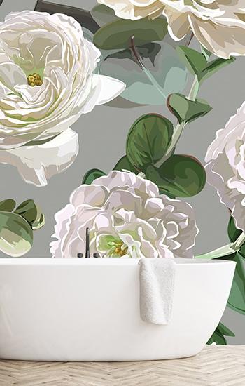 oversized botanical wallpaper - Google Search | Floral ...