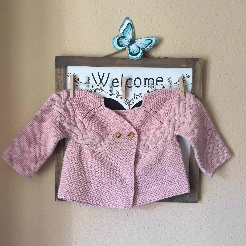 Chaqueta de ganchillo para bebé, patrón chaqueta trenza.   Bebek ...