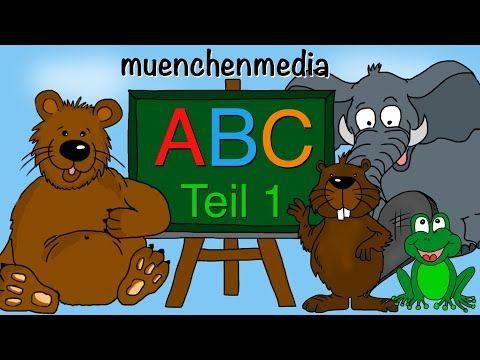 Abc Lied Buchstaben Lernen Von A F Alphabetlied Kinderlieder Deutsch Muenchenmedia Youtube