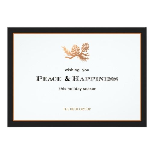 Faux Rose Gold Pine Cones Corporate Holiday Card Zazzle Com