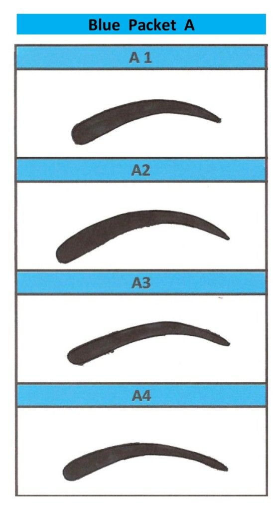 Printable eyebrow stencils actual size eyebrows pinterest for Eyebrow templates printable