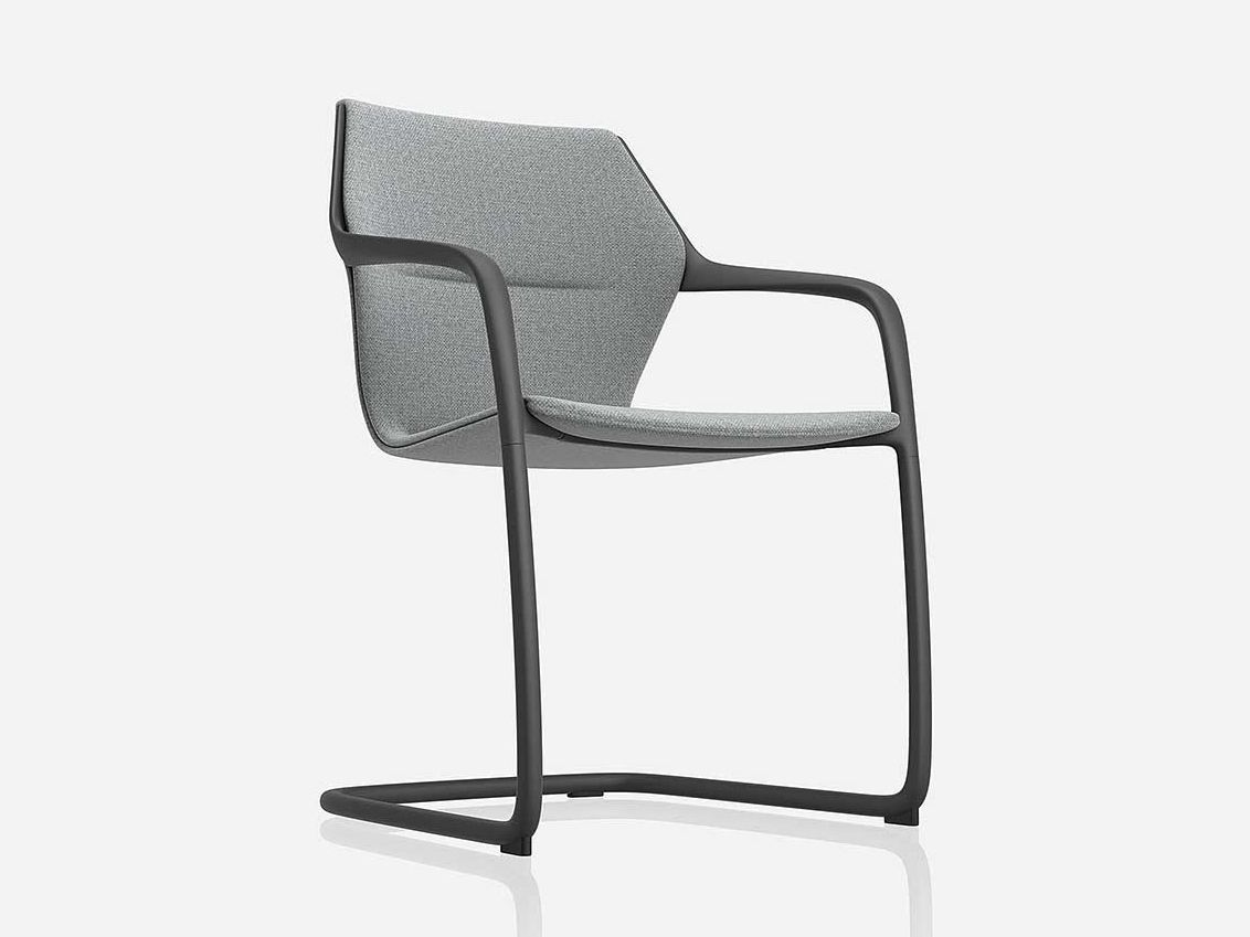 Cantilever ergonomic fabric chair RAY by Brunner   design Jehs ...