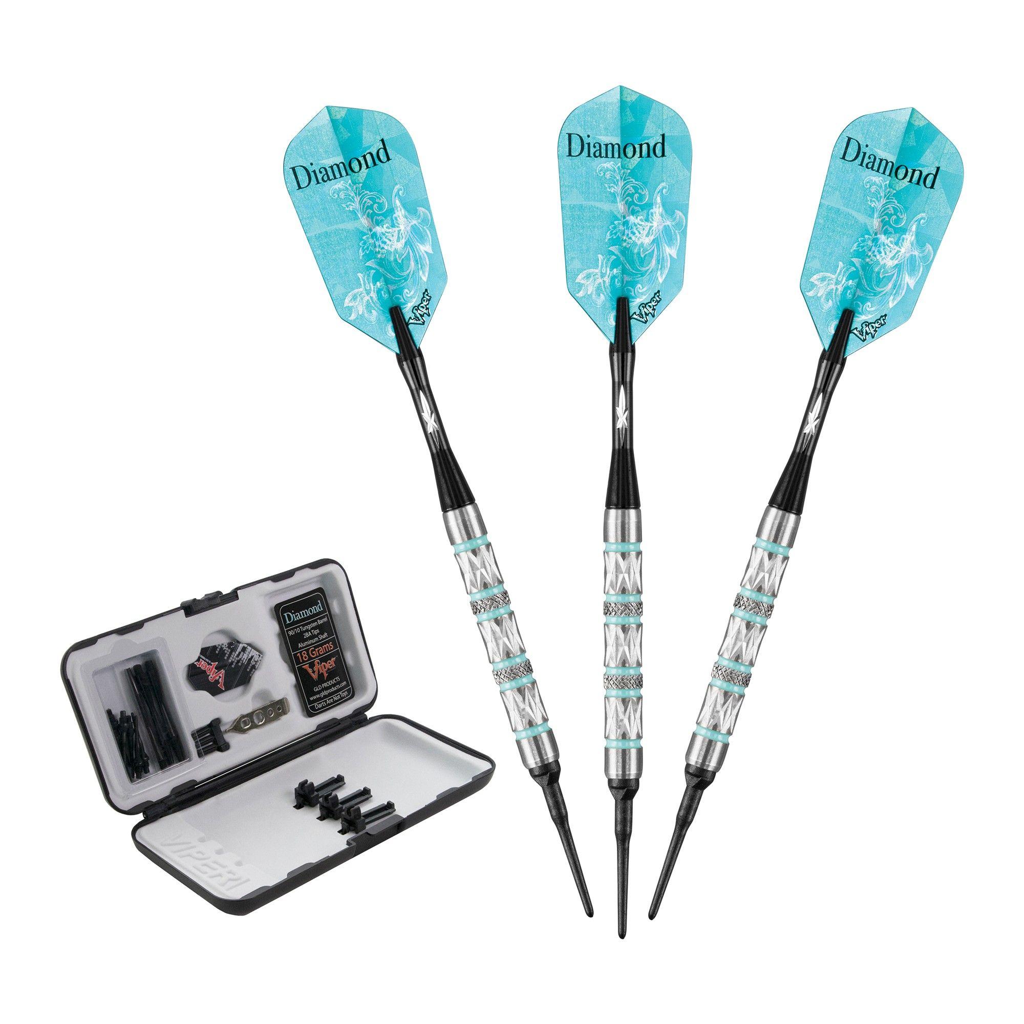 Viper Diamond Soft Tip Tungsten Darts 18gm Dart Set Tungsten Darts Darts