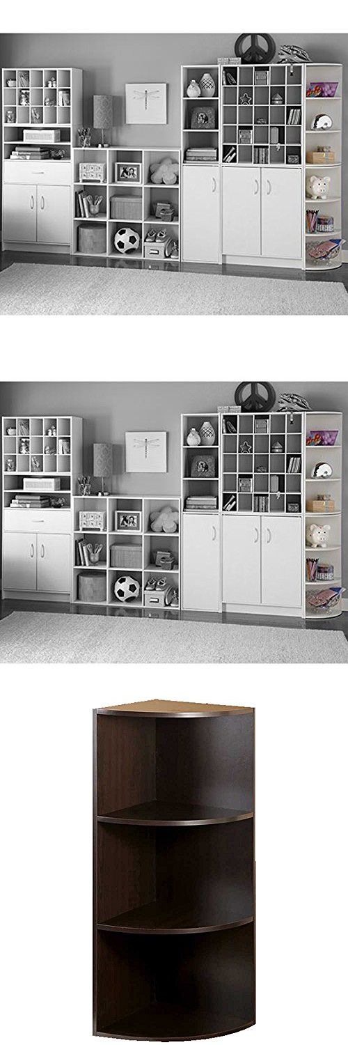Corner Shelf Closet Organizer Bookcase Cabinet Bookshelf Rack Modular 3  Shelf System