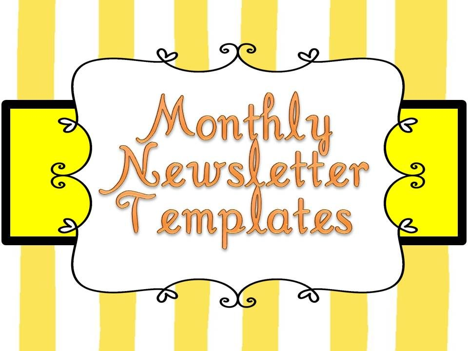 Free Preschool Newsletter Templates Templates For Teachers  Free School Newsletter Templates For Word