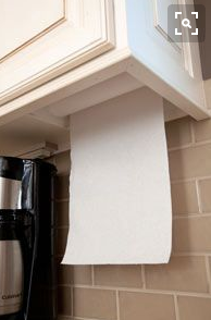 space saving under cabinet paper towel holder from master design cabinetry gallery