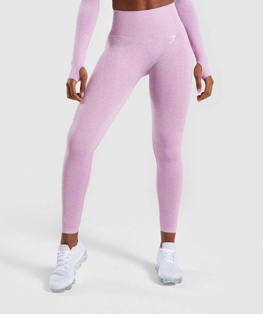 f11c5b5ea9e61 High waisted fit- Supportive ribbed waistband- Seamless shading contouring  patterns- DRY technology- 58% Nylon, 32% Polyester, 10% Elastane- Model is  5'5