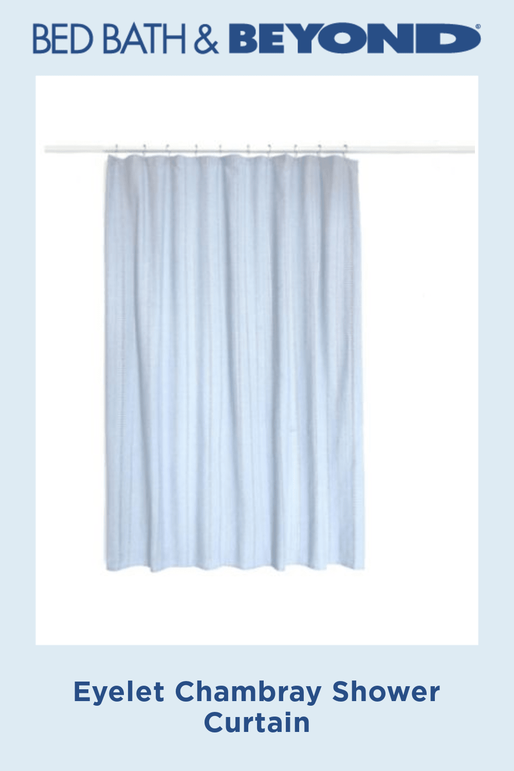Eyelet Chambray Shower Curtain In 2020 Shower Curtain Curtains