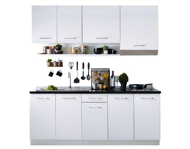 Kourmet white kitchen Kitchen Cabinets, Koncept | White ...